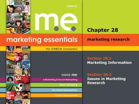 Section 28.1 Marketing Information Chapter 28 marketing research Section 28.2 Issues in Marketing Research.