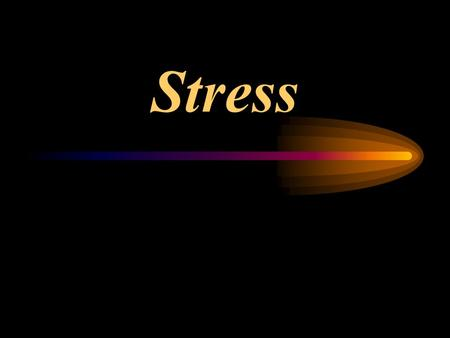 Stress. –Is the process by which we appraise and respond to environmental threats –Hans Selye believed we react similarly to physical and psychological.
