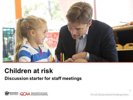 Children at risk Discussion starter for staff meetings 14868.