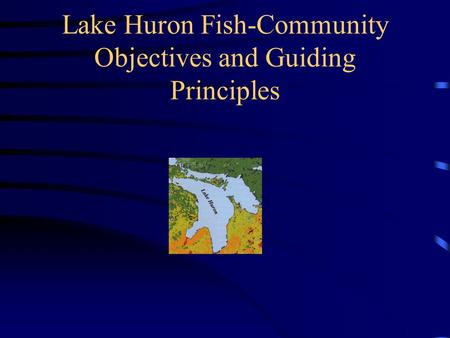 Lake Huron Fish-Community Objectives and Guiding Principles.