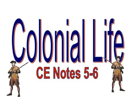 Notes 6 Life in…NEW ENGLAND –People live close together in cities and small towns. –Religion (Puritanism) is the center of peoples' lives. Study the Bible.