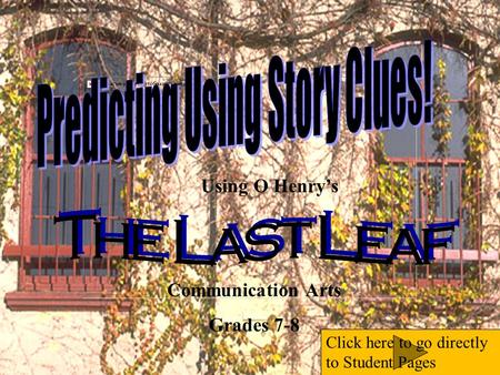 the last leaf by o henry essay