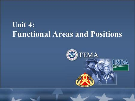 Unit 4: Functional Areas and Positions