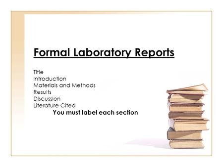 lab report materials and method Me student writing guide lab reports - 4 the report a5 methods • experiment overview • apparatus • equipment table • procedures.