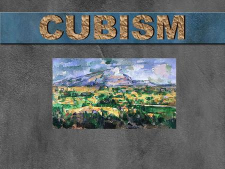 Cubism began between 1907 and 1908 by two artists, Pablo Picasso and George Braque. Cubism is based on geometric shapes and distinct use of space Georges.