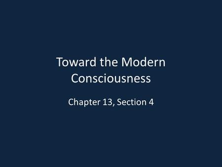 Toward the Modern Consciousness Chapter 13, Section 4.