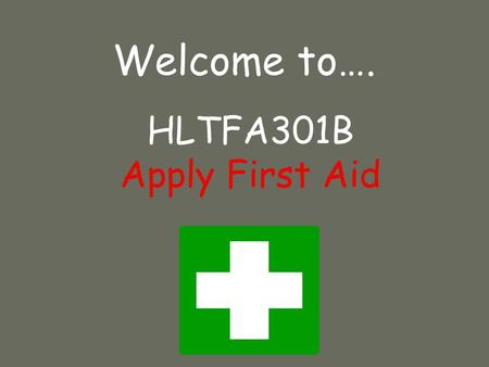 Welcome to…. HLTFA301B Apply First Aid. Legal liability Significant legislation occurred in NSW in 2002 with the Civil Liability Act – this Act uses the.