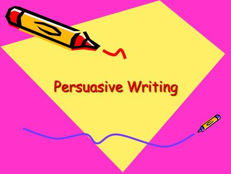 Persuasive Writing. A work written in which a writer presents a case for or against a particular argument. Each logical argument, powerful image, or striking.