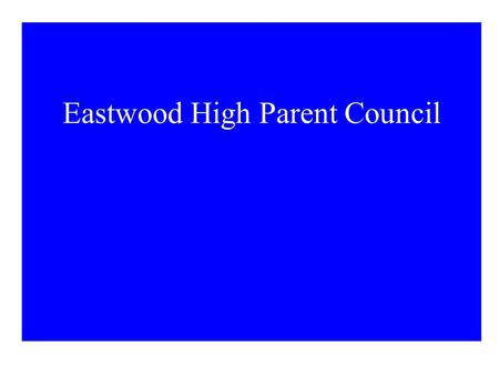 Eastwood High Parent Council. The Proposal To build a Mosque and Community Centre in our existing school campus Clarification - It is NOT adjacent to.