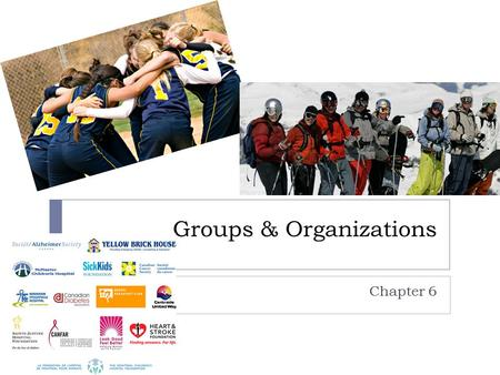 Groups & Organizations Chapter 6. Groups  Social group: collection of people who interact frequently, share a sense of belonging, and have a feeling.