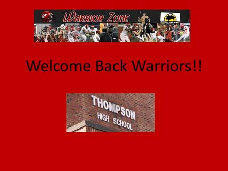 Welcome Back Warriors!!. Introduction Ms. Day Entering my 8 th year at THS Served as certified athletic trainer for 9 years Taught physical science, sports.