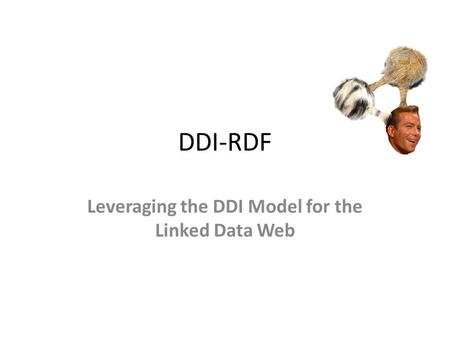 DDI-RDF Leveraging the DDI Model for the Linked Data Web.