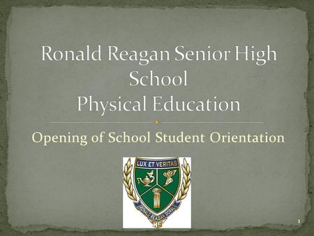Opening of School Student Orientation 1. Teacher Contact Info Grading Breakdown Locker-Room Policies and Procedures Dress Code and Uniform Policy NOTE.