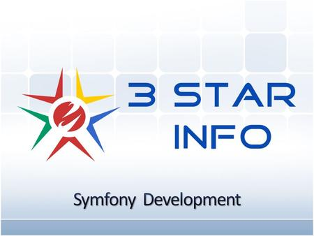 www.3stargroup.com Symfony web development framework is used to develop rapid, complex and large scale web applications faster and in an effective way.