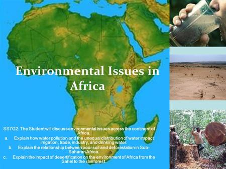 the concerns of water pollution in africa Open sewers most water pollution is caused by man and its construction activities in this area of africa the water quality in the rural areas of south africa was found to have deterioted significantly after water runoff from farms and household wastes the result shows, fertilizer runoff .