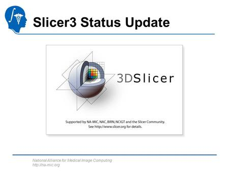 National Alliance for Medical Image Computing  Slicer3 Status Update.