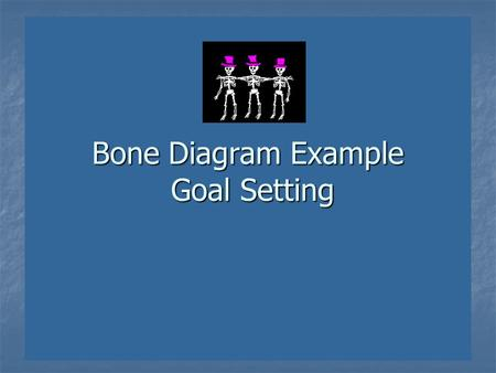 Bone Diagram Example Goal Setting. 1.We goal set at the beginning of quarters and sometimes after test analysis. 2.Sometimes I goal set with individual.