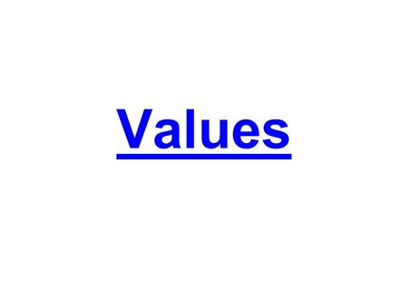 Values. Lesson Objectives –Budget for item(s) upon which you place a significant value –Realize different values held by classmates –Understand the relationship.