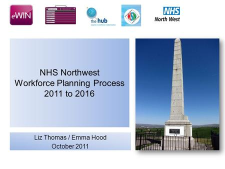 NHS Northwest Workforce Planning Process 2011 to 2016 Liz Thomas / Emma Hood October 2011.