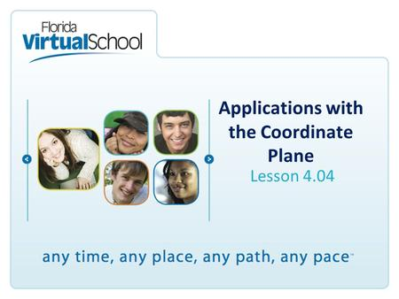 Applications with the Coordinate Plane Lesson 4.04.