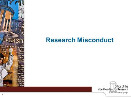 Research Misconduct.