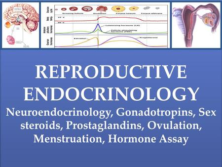 REPRODUCTIVE ENDOCRINOLOGY Neuroendocrinology, Gonadotropins, Sex steroids, Prostaglandins, Ovulation, Menstruation, Hormone Assay REPRODUCTIVE ENDOCRINOLOGY.