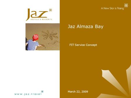 Jaz Almaza Bay March 22, 2009 FIT Service Concept.