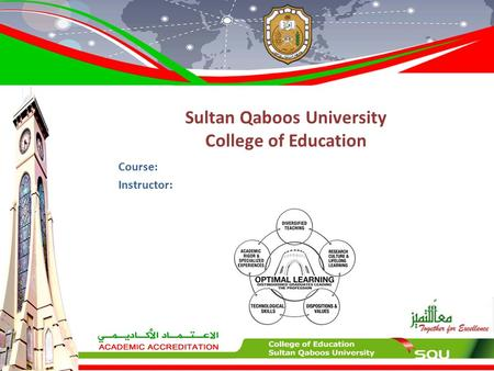 Sultan Qaboos University College of Education Course: Instructor: