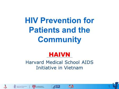 1 HIV Prevention for Patients and the Community HAIVN Harvard Medical School AIDS Initiative in Vietnam.