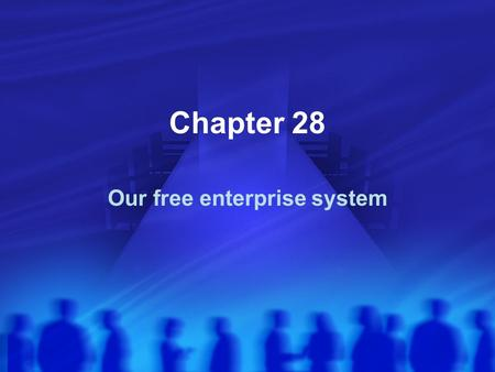 Chapter 28 Our free enterprise system. Free Enterprise System Also called a market economy or capitalism Producers and Consumers are free to engage in.
