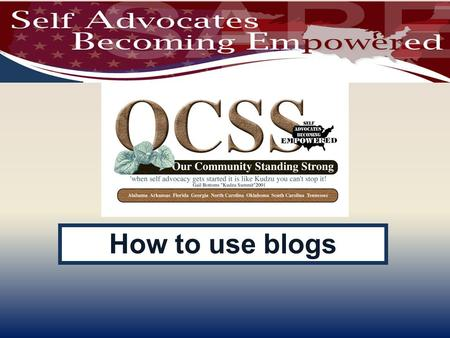 How to use blogs. WELCOME Reminders: Please mute your device once you join the call Remember to raise your hands for questions or write a message in.