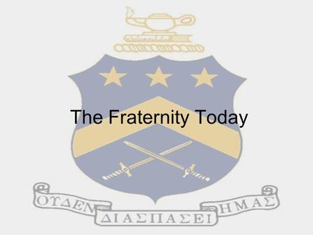 The Fraternity Today. Headquarters We are members of a national fraternity with chapters on college campus across America The National Office of Pi Kappa.