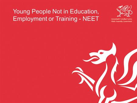 Young People Not in Education, Employment or Training - NEET.