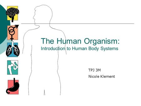 The Human Organism: Introduction to Human Body Systems
