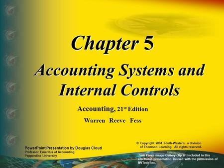 Accounting Systems and Internal Controls