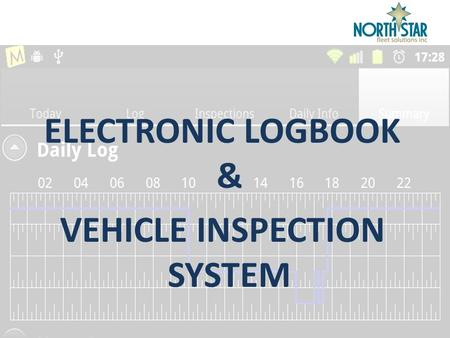 "ELECTRONIC LOGBOOK & VEHICLE INSPECTION SYSTEM. ""Miles ahead solving problems"" 2 ABOUT ELVIS  electronic logbook solution does away with the manual inefficiencies."