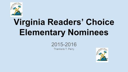 Virginia Readers' Choice Elementary Nominees