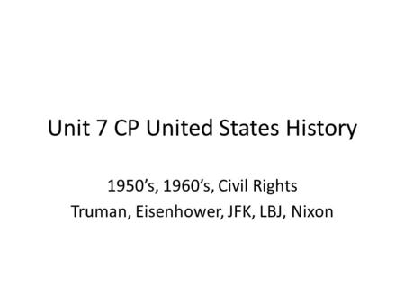 u s history cultural changes 1960s Prentice hall united states history: cars & culture in the us in the 1950s 5:11 culture of 1960s america related study materials.