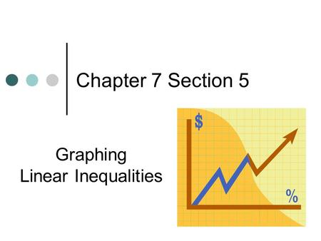 Chapter 7 Section 5 Graphing Linear Inequalities.