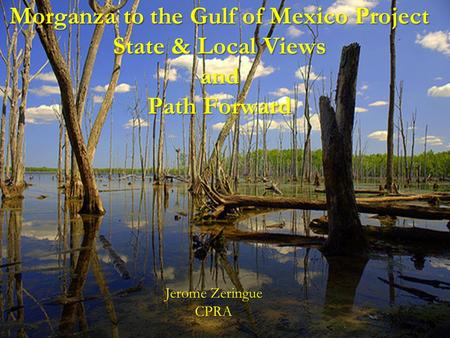 Morganza to the Gulf of Mexico Project State & Local Views and Path Forward Jerome Zeringue CPRA.