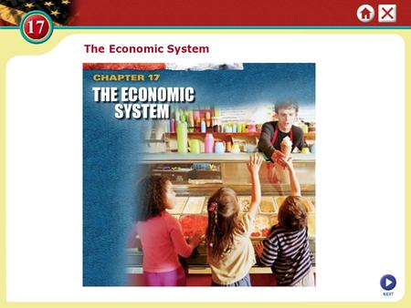 The Economic System NEXT. Section 1: The Economic System at Work Countries form many types of economic systems to meet their citizens' needs and wants.