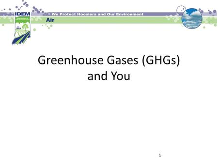Greenhouse Gases (GHGs) and You 1. The Regulated GHGs CO 2 (Carbon Dioxide) CH 4 (Methane) N 2 O (Nitrous Oxide) SF 6 (Sulfur Hexafluoride) HFCs (Hydrofluorocarbons)