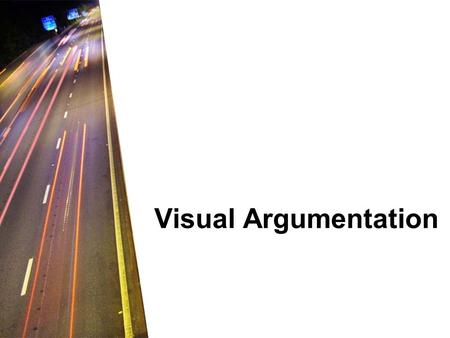 Visual Argumentation.