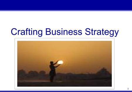 0 Crafting Business Strategy. 1 Where managers of a company situate that company relative to it's rivals along important competitive dimensions To reduce.