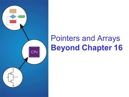 Pointers and Arrays Beyond Chapter 16. 16-2 Pointers and Arrays What are the real differences? Pointer Holds the address of a variable Can be pointed.