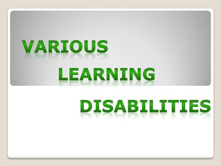 "The ""Individuals with Disabilities Education Act (IDEA) describes 14 disabilities and how each can affect a students performance in the classroom. Autism."
