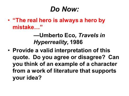 Hero Essay Sample