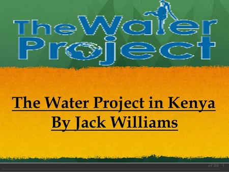 1 of 20 The Water Project in Kenya By Jack Williams.