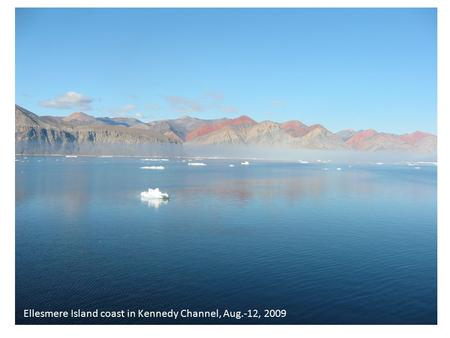 1 of 27 Ellesmere Island coast in Kennedy Channel, Aug.-12, 2009.