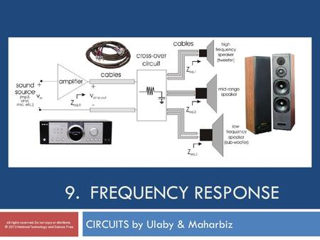 9. FREQUENCY RESPONSE CIRCUITS by Ulaby & Maharbiz All rights reserved. Do not copy or distribute. © 2013 National Technology and Science Press.